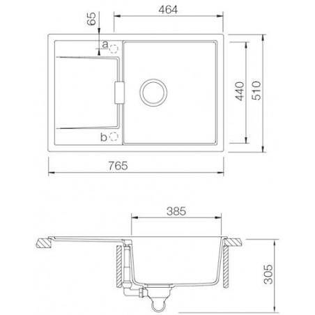 Set Schock 9 (dřez Mono D-100 + baterie Altos S) Carbonium