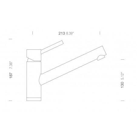 Set Schock 25 (dřez Signus D-100 + baterie Altos S) Carbonium