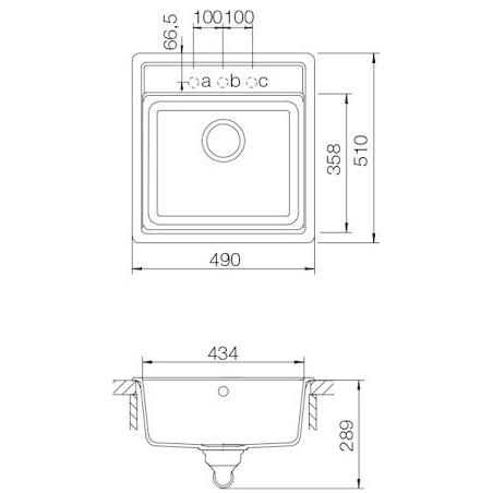 Set Schock 55 (dřez Nemo N-100S + baterie Altos S) Onyx