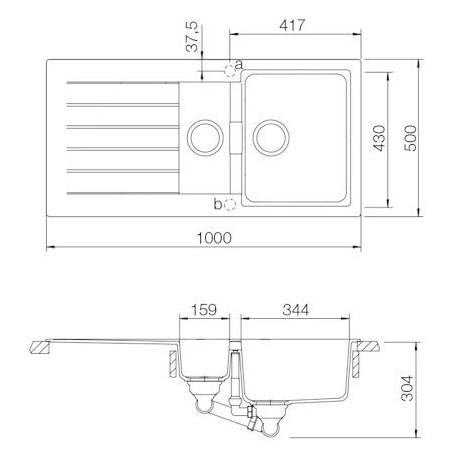 Kuchyňský dřez Schock Signus D-150 Polaris, spodní montáž